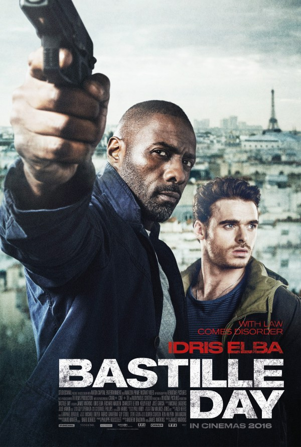 Poster 'bastille Day ' Starring Idris Elba & Richard