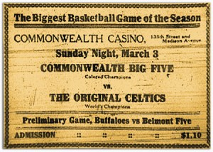 Advertisement, Commonwealth Big Five vs. Celtics