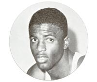 Basketball player Jackie Robinson