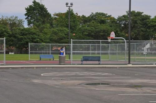 Basketball Court by Mason Square, Springfield, Mass.
