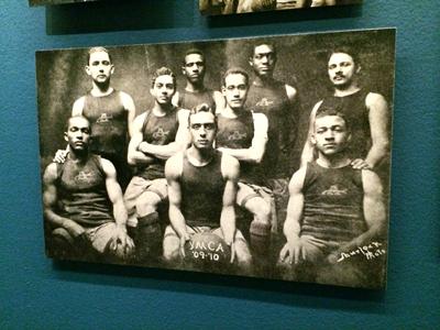 Twelfth Street Colored YMCA basketball team (Washington 12th Streeters), featuring Edwin Bancroft Henderson 1910 Reproduction