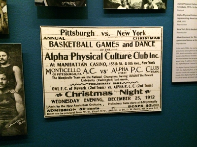 Advertisement for Christmas Night basketball games and dance at the Manhattan Casino 1912 Reproduction
