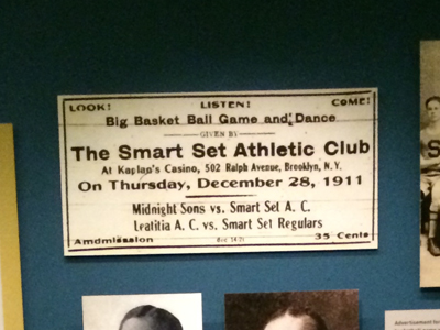 Advertisement for the Smart Set Athletic Club, basketball game and dance 1911 Reproduction