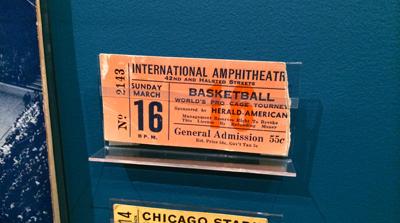 Ticket stub, 1943 World Championship of Professional Basketball, Sunday March 16, [1943] | 1943 | Ticket fragment