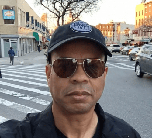 Claude Johnson on location in Brooklyn