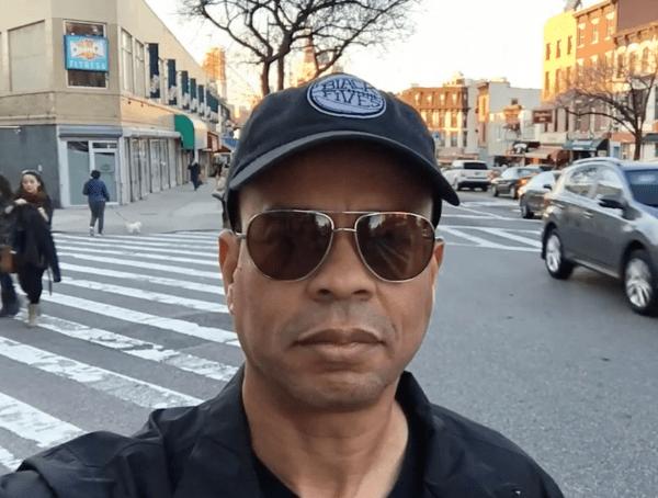 Claude Johnson on location in Brooklyn