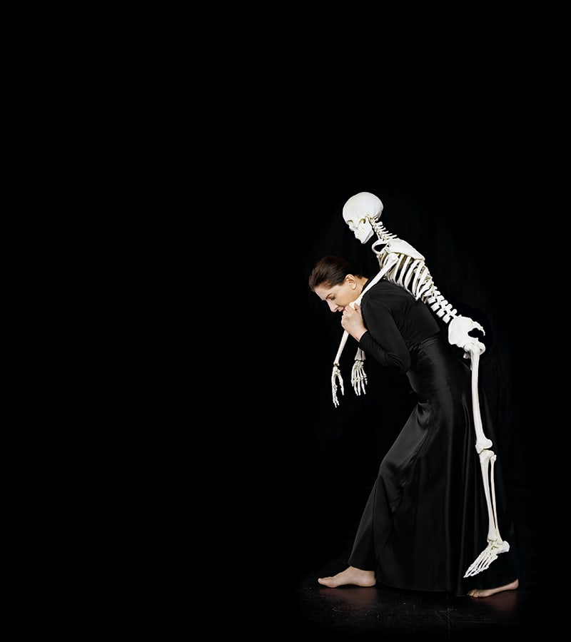 Carrying the Skeleton (2008) C- Print, Courtesy Marina Abramovic and Sean Kelly Gallery New York