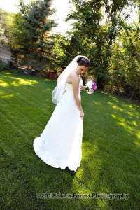 Summer bride on the lawn at the Briarhurst Manor