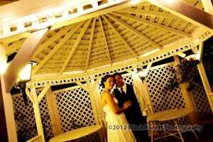 Night time romantic wedding pictures at the Briarhurst