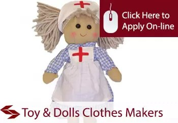 self employed toy and dolls clothes makers installers liability insurance