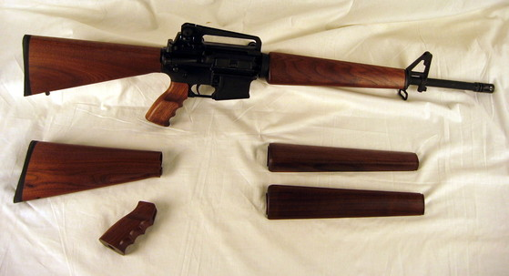 ar15 wood stock sets
