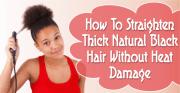 straighten thick natural