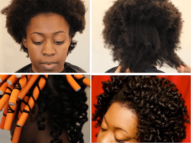 Stretch 4c Hair With Flexi Rods Tutorial