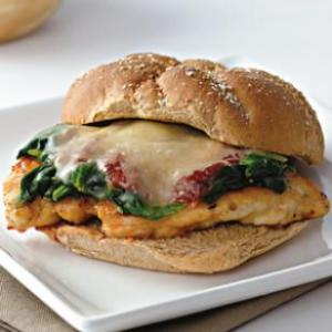 """Chicken Parmesan Sub"" via EatingWell"