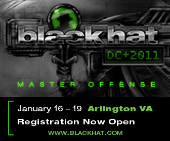 Black Hat DC 2011 January 16-19 Arlington VA www.blackhat.com
