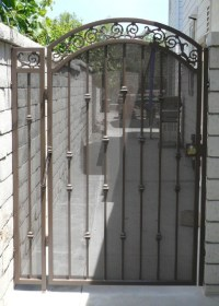 Iron Gates with Screen and Sheet Metal - Black Hawk Iron