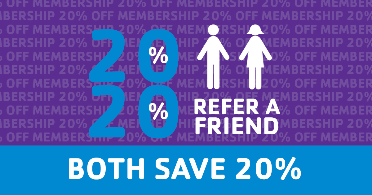 Membership Special: Save 20% when you join with a friend!