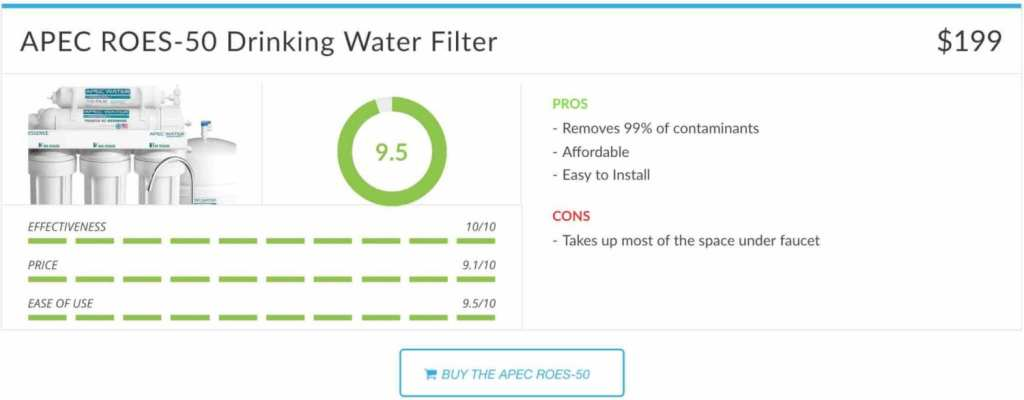APEC ROES-50 Drinking Water Filter Review