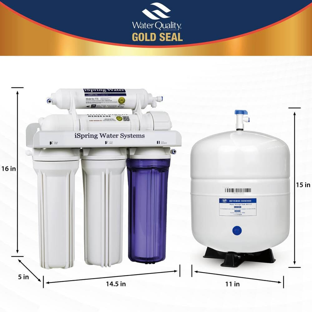 Ispring Reverse Osmosis System 5 Stage Under Sink Water