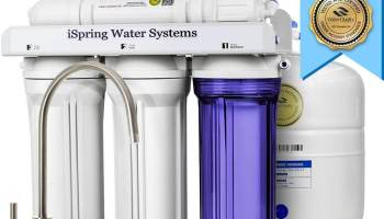 Apec roes 50 reverse osmosis drinking water filter review video ispring rcc7 wqa reverse osmosis system 5 stage under sink water filter review publicscrutiny Image collections
