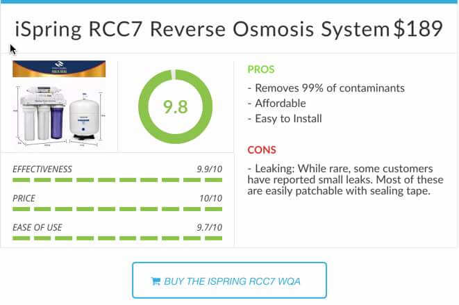 iSpring RCC7 Review Reverse Osmosis System Rating