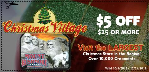 christmas village coupon black