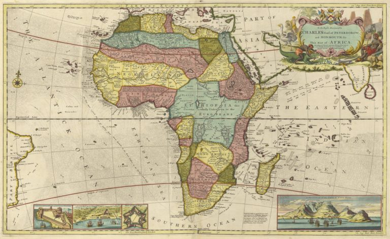 1710 Map of The Kingdom of Judah In Africa