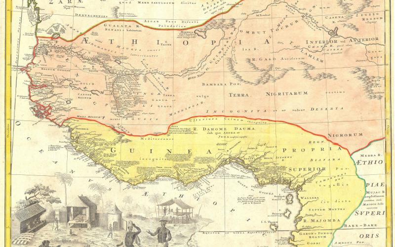 1743: Homann Heirs' German Map of Judah On The West Coast of Africa
