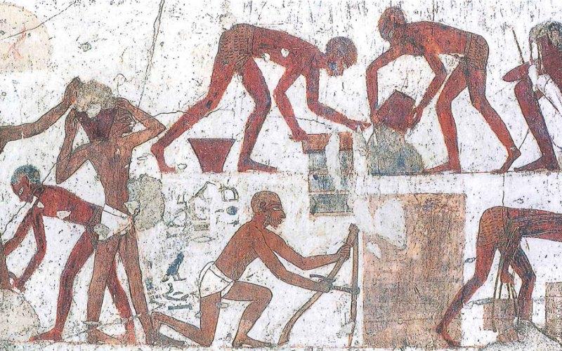Circa 1440 B.C: Hebrews Making Bricks In Egypt