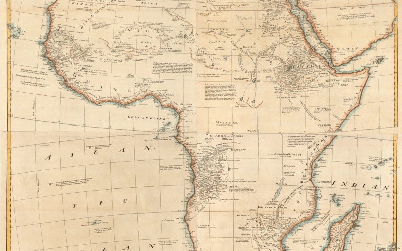 """1766: French Map Shows Negroland As """"Populated By Jews"""""""