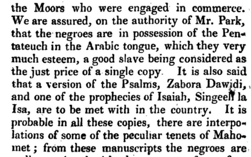 1795: Negroes In Possession of Scriptures Europeans Didn't Have