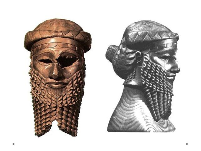 Bronze Head of Akkadian Ruler Sargon