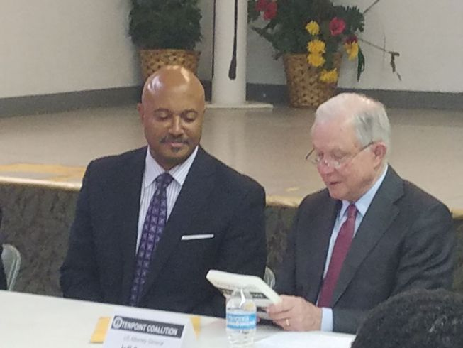 Jeff Sessions and IN Attorney General Curtis Hill at Ten Point Meeting
