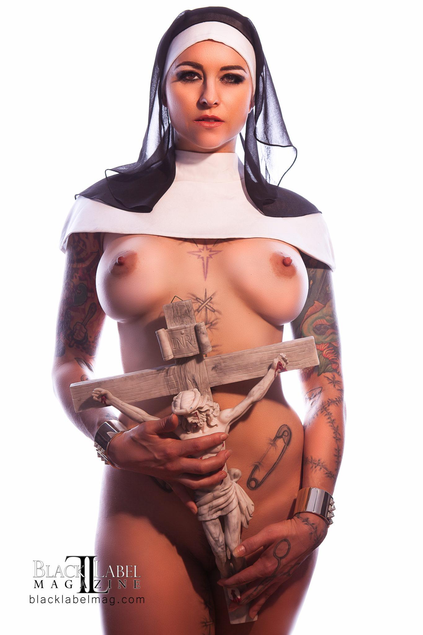 nun porn, big tits, Ivizia Dakini, nude models, nude art, Black Label Magazine