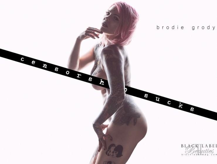 black label magazine, brodie grody, nude inked girls, nude models, portland strippers, exotic tattooed models, erotic