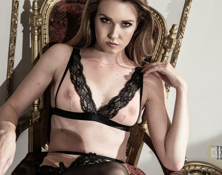 Ashley Lane, Black Label Magazine, sexy, nude art, lingerie, beauty, glamour, natural tits