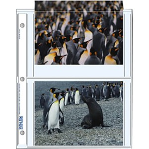 """Print File 57-4P Archival Storage Page for 4 Prints (5 x 7"""", 25-Pack)"""