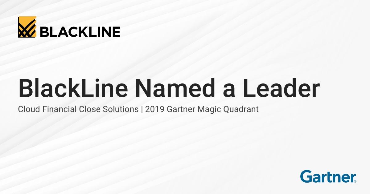 2019 Gartner Magic Quadrant for Cloud Financial Close