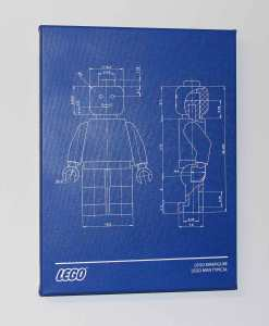 Lego Man Blueprint Canvas Print