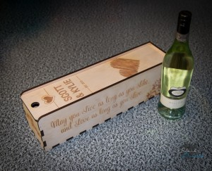 Personalised Wooden Wine Boxes - Blacklist Prints