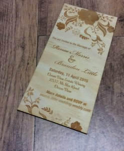 Wooden Wedding Invitations