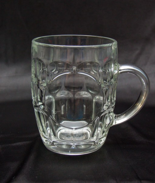 Engraved Glass - Dimple Beer Glass