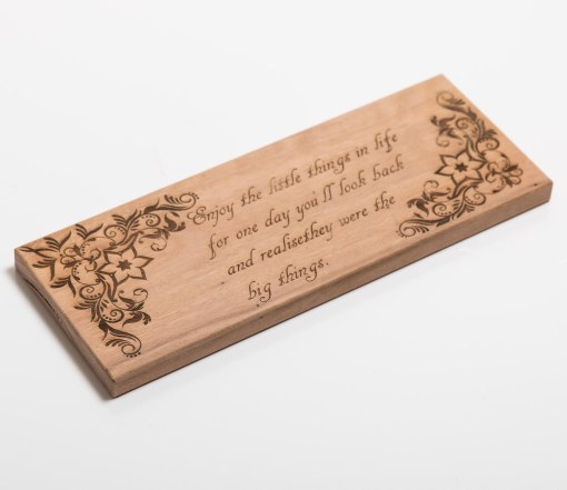 Engraved Quote on Hardwood