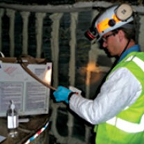 Investigator in an underground coal mine.  Source: CDC/NIOSH