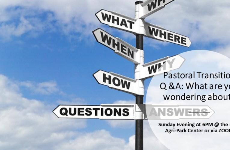 Pastoral Transition Meeting