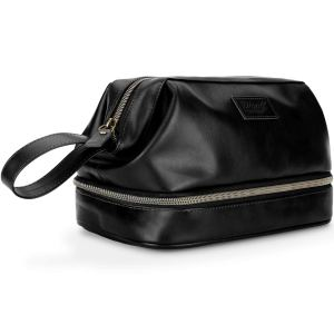 Large Mens PU Leather Toiletry Bag