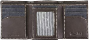 Timberland Men's Canvas & Leather Trifold Wallet