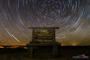 Lake Etling Star Trail