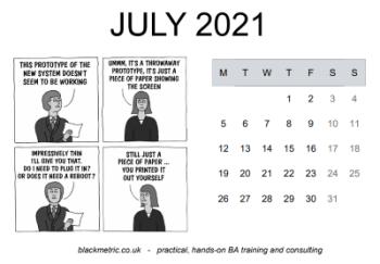 Calendar with cartoon