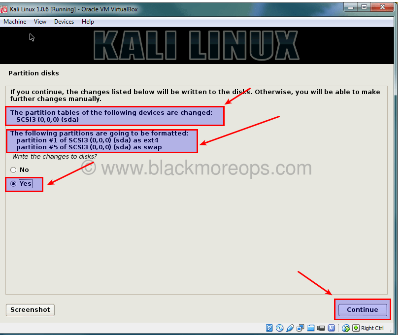 A detailed guide on installing Kali Linux on VirtualBox - blackMORE Ops - (35)